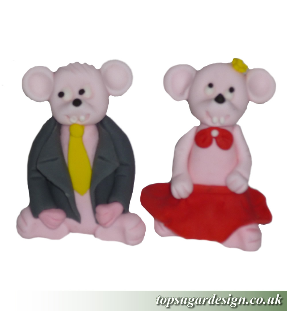 Icing Figures Both male and female mouses