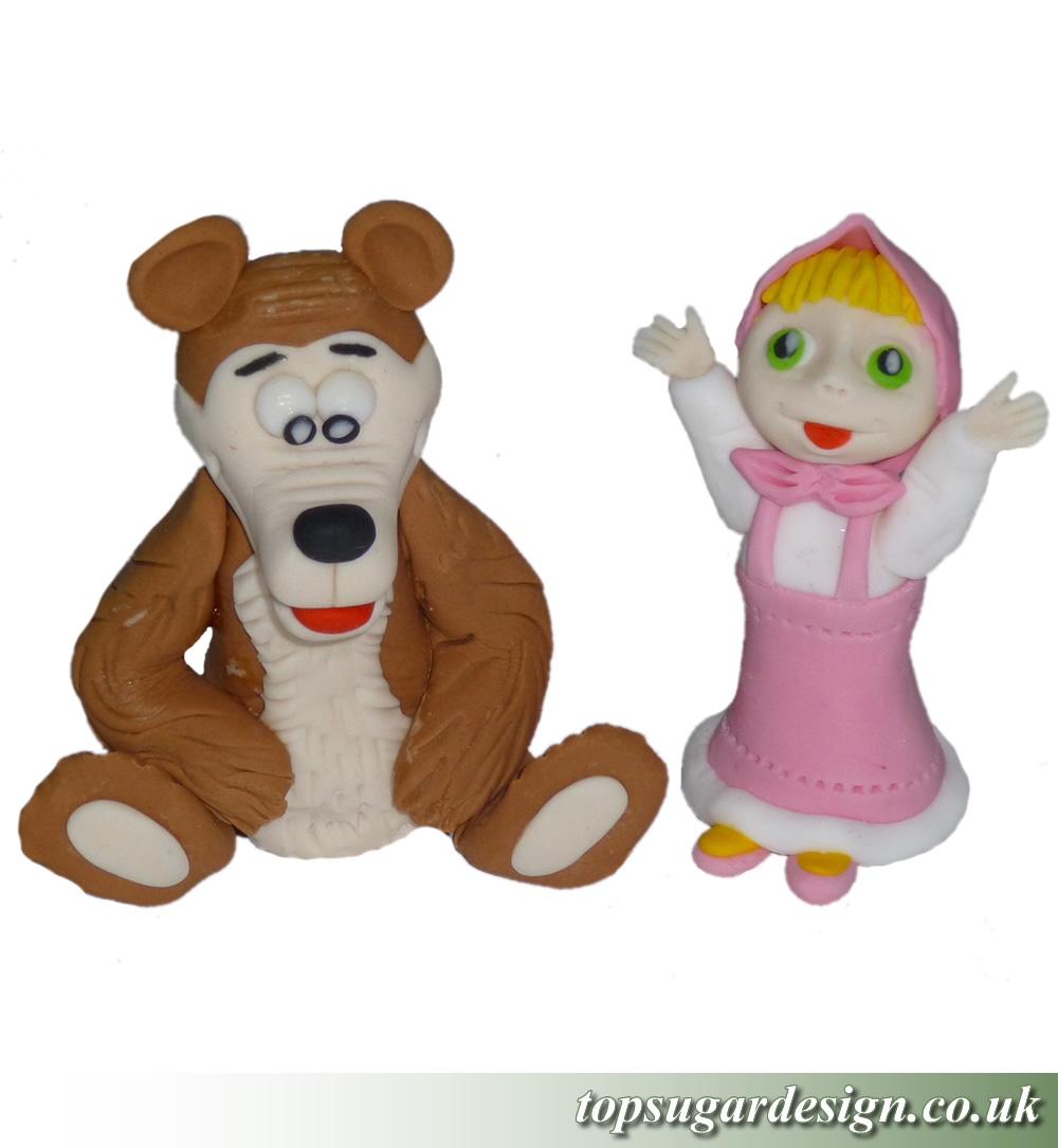 Icing Figures Masha and the bear