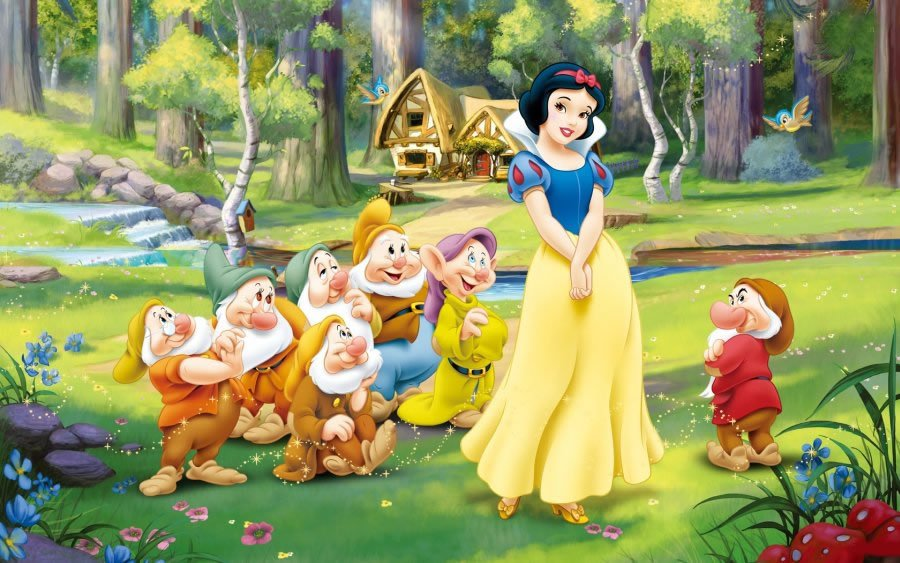 Edible Pictures Snow White and the Seven Dwarfs