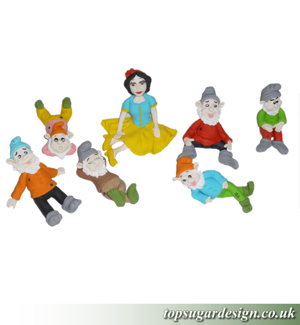 Icing Figures Snow white and the seven dwarfs